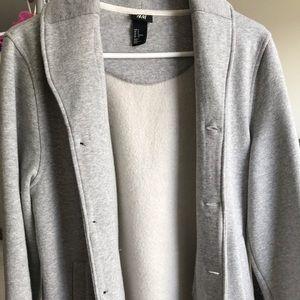 HM Grey Fleece Cardigan